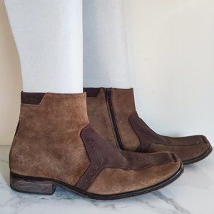Mark Nason Made in Italy Brown Leather Ankle Boots
